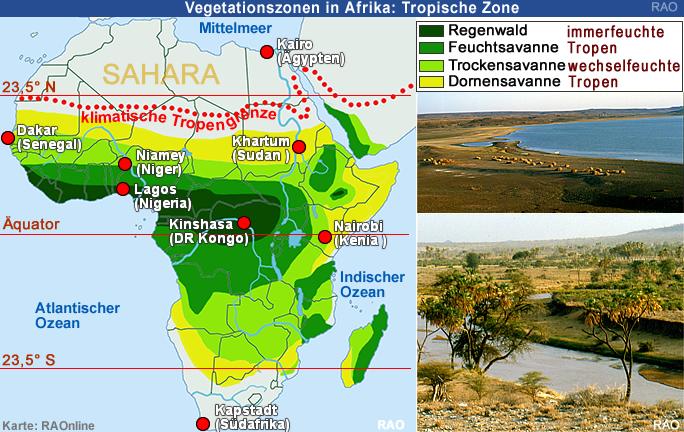 savanne afrika karte